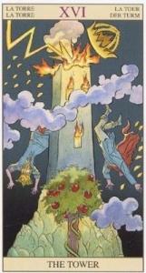 Перевернутая башня таро карта таро на деня