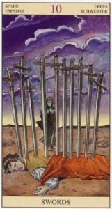 Значение карты таро десять мечей гадание на гадальных картами